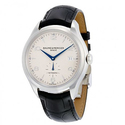 Baume And Mercier Clifton Silver Dial Black Leather Automatic Men's Watch