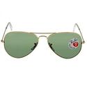 Ray Ban Aviator Arista Polarized Green Eye 58mm Sunglasses