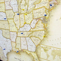 USA or World Magnetic-Pin Travel Map with Bonus 20 Pins