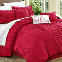 Francine Pleated and Ruffled Comforter Set (7-Piece)
