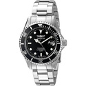 Invicta Pro Diver Black Dial Mens Stainless Steel Mens Watch