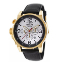 Invicta Men's I-Force Black Leather White Dial Watch