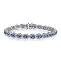 5.50 CTTW Genuine Tanzanite and Diamond Accent Bracelet by L'Artiste