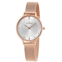 Skagen Anita Silver Dial Rose Gold-tone Ladies Watch
