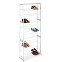 Whitmor 6780-3048-WHT White Resin 30-Pair Shoe Rack