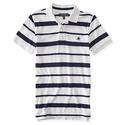 Aeropostale Mens A87 Heritage Stripe Jersey Polo Shirt