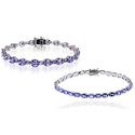 10.00–13.00 CTTW Tanzanite Bracelets in Sterling Silver