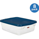 Rubbermaid Set of 8 15-Quart Clever Store Container