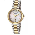 Bulova Women's Diamond Gallery Two-Tone Stainless Steel and Mother of Pearl Dial