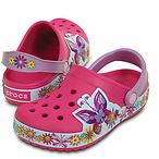 Crocs 孩童蝴蝶洞洞鞋