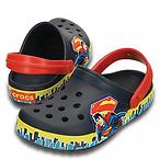 Crocs 孩童超人洞洞鞋