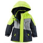 4合1儿童外套-荧光绿/灰