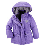 4合1儿童外套-紫/灰