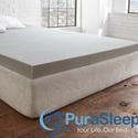 PuraSleep 石墨凝胶记忆海绵薄床垫 低至$19.99