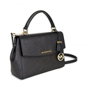 Michael Kors Ava Saffiano Leather Small Crossbody Satchel