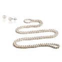 淡水珍珠项链及珍珠耳钉