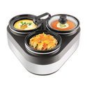 Granite Triple Slow Cooker with Removable Stoneware