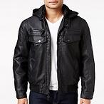 INC Faux-Leather Jacket