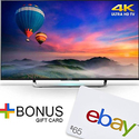 Sony XBR-43X830C 43-Inch 4K UHD Smart Android LED HDTV + $65 eBay Gift Card