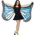 蝴蝶翅膀成人软布万圣节服装