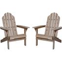 Twin Pack Fir Wood Adirondack Chairs