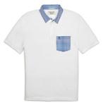 Gingham Collar Polo