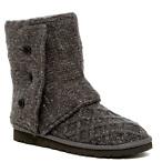 Lattice Sheepskin Knit Boot