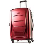 红色可伸缩旅行箱