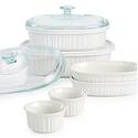 Corningware French White 10 pc. Bakeware Set