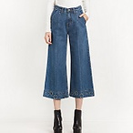 宽口牛仔裤