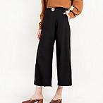 Button Side Draped Pants