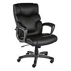 Tarington Leather Chair Black