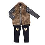 Hearts Galore Toddler Vest Set