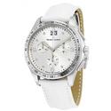 Maurice Lacroix Miros Silver Diamond Dial Chronograph Ladies Watch