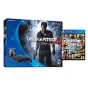 Sony PlayStation 4 Slim Uncharted 4 500GB Bundle + Grand Theft Auto 5