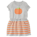Girls' Pumpkin Sweater Dress
