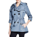 Burberry Knightsdale Short Hooded Trench Coat