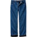 Lined Five-Pocket Jeans