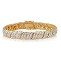 1.00 CTTW Double Row Diamond Bracelet by Brilliant Diamond
