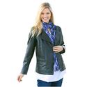 Faux Leather Asymmetrical Zip Jacket