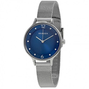 Skagen Anita Blue Dial Stainless Steel Mesh Ladies Watch