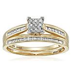 Gold Diamond Bridal Ring