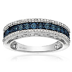 Blue and White Diamond