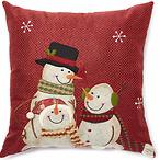 Woodland 圣诞雪人抱枕
