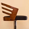 Bentwood Black Walnut Adjustable Bar Stool