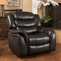 Hawthorne PU Leather Glider Recliner Chair