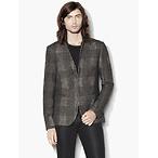 Wool Slim Fit Plaid Jacket