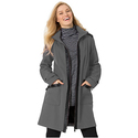 Leather-look Trim Microfiber Coat