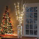 Set of 5 Cordless Pre-Lit Shimmer Branches with Timer