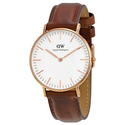 Daniel Wellington 0507DW Womens Rose Gold Steel Brown Strap Watch